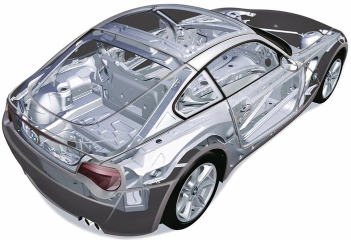 Conception BMW Z4 E86 sur une vue 3D